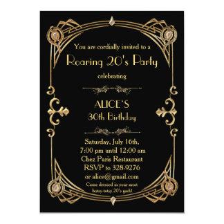 Birthday Party Invitation Any age, Art Deco Gatsby
