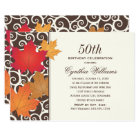 Birthday Party Invitation | Autumn Fall Theme