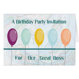 Birthday Party Invitation Card for Boss