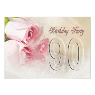 Birthday party invitation for 90 years