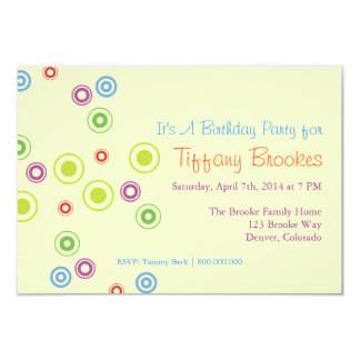 Birthday Party Invitation | Going In Circles |iv