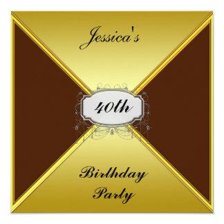 Birthday Party Invitation Gold envelope