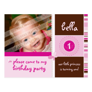 BIRTHDAY PARTY INVITATION :: grace - girl Postcard