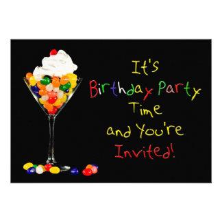 Birthday Party Invitation Jelly Bean Personalized Invite