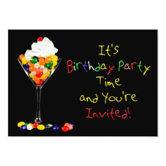 Birthday Party Invitation (Jelly Bean)