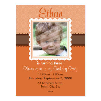 BIRTHDAY PARTY INVITATION :: prettily 6 Postcard