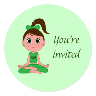 Birthday Party Invitation to a Yoga Party
