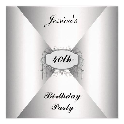 Birthday Party Invitation White envelope Invitation