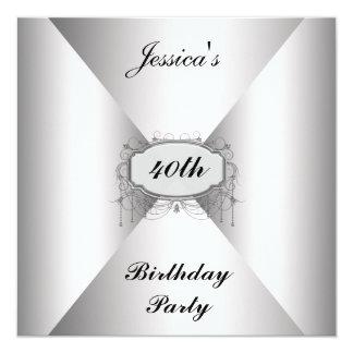 Birthday Party Invitation White envelope