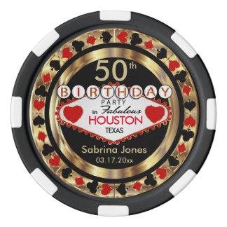 Birthday Party Invite Poker Chips DIY City & State
