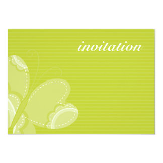 BIRTHDAY PARTY INVITES :: flutterby butterfly 4L 13 Cm X 18 Cm Invitation Card