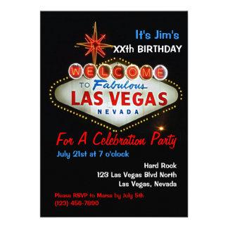Birthday Party Las Vegas Party Invitations Invites