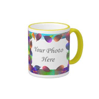 Birthday Party Life 2-Photo Frame Ringer Mug