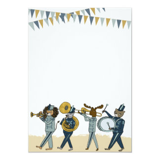 Birthday Party Marching Band Invitation