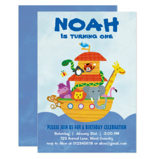 Birthday Party - Noah's Ark invitation