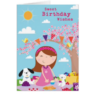 Birthday Party Picnic Card