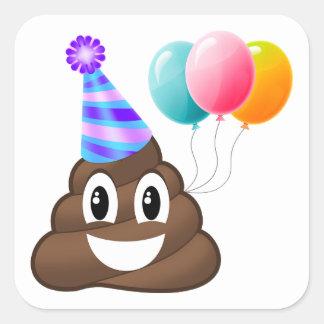 Birthday Party Poop Emoji Sticker