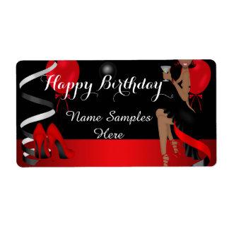 Birthday Party Red Black Shoe High Heels Ethnic
