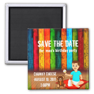 Birthday Party Save The Date Square Magnet