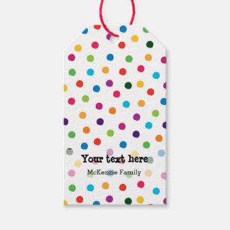 Birthday party sets gift tags