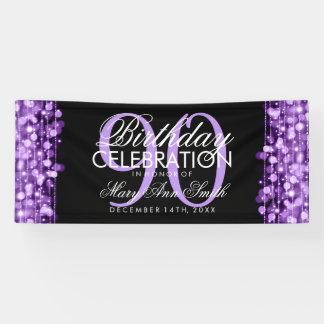 Birthday Party Sparkles Purple Banner