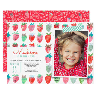 Birthday Party | Strawberry spring | Invitations