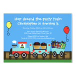 Birthday Party Train Birthday Invitation