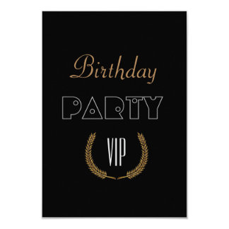 Birthday  Party VIP Card