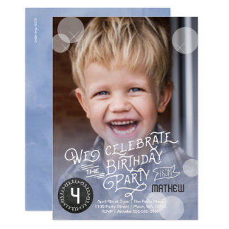 Birthday Party Watercolor | Invitations Boy