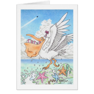 Birthday Pelican Card
