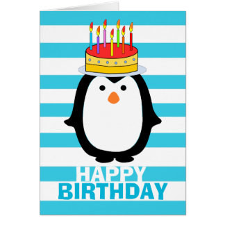 Birthday Penguin Card