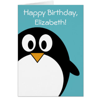 Birthday Penguin Customizable Card