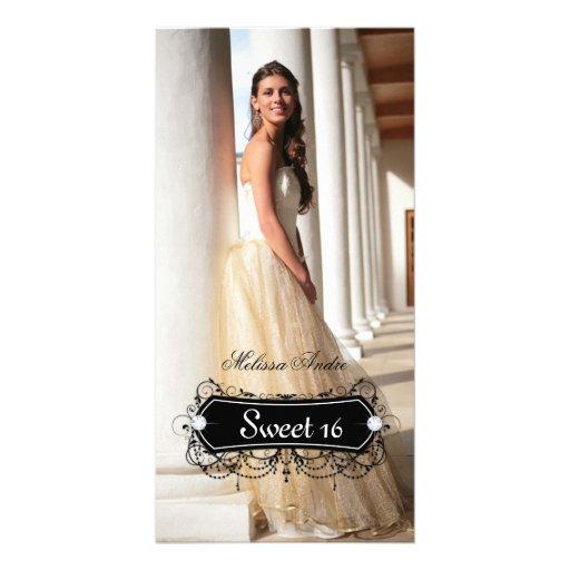 Birthday Photo Card Sweet Sixteen Grad Quinceanera
