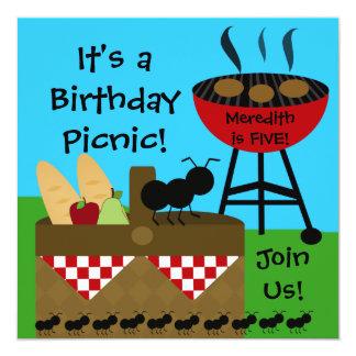 Birthday Picnic Invitations
