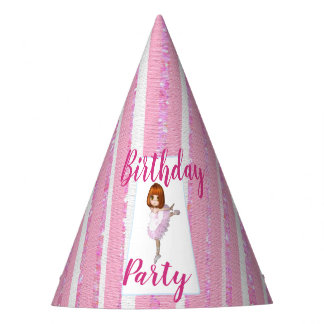Birthday Pink Ballerina Party Hat
