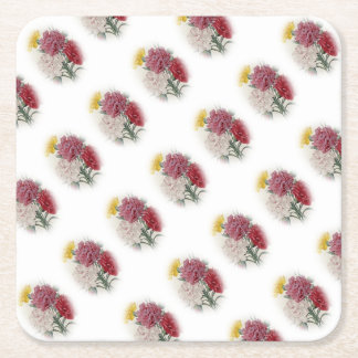 Birthday Pinks - Soft Edged Oval Square Paper Coaster