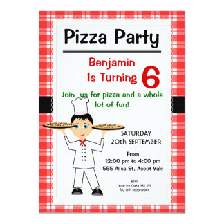 Birthday Pizza Party Invitation