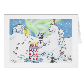 Birthday Polar Bear Card