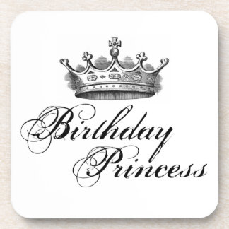 Birthday Princess Beverage Coasters