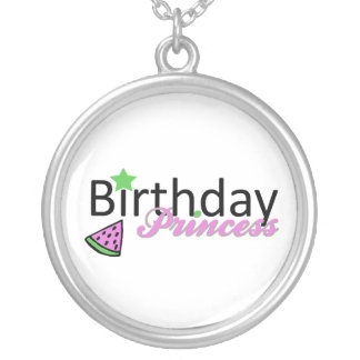 Birthday Princess Silver Plated Necklace