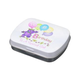 Birthday Princess Teddy Bear Jelly Belly Tins