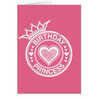 Birthday Princess -White- Card
