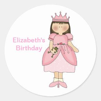 Birthday Princess With Frog Sticker
