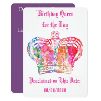 Birthday Queen for the Day Card