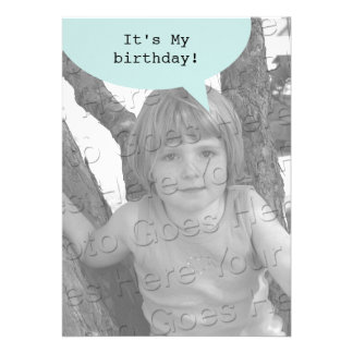 Birthday Quote Bubble Personalised Announcements