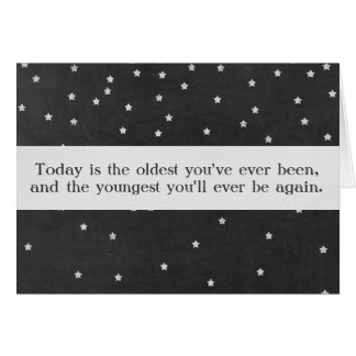 Birthday Quote with Custom Text Card