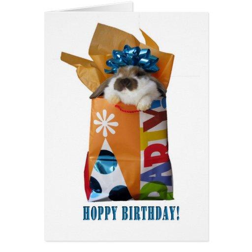 Birthday rabbit greeting card