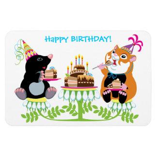 birthday rectangular photo magnet