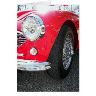 Birthday Red Sports car Card