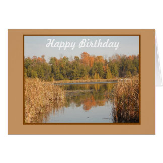 Birthday Reflections for Him Greeting Card